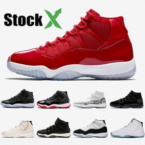 Wholesale Mens Basketball Shoes Sneakers 11s Concord 45 XI Snakeskin 11 Womens Bred Win Like 96 Cap And Gown Black Gym Red Space Jam