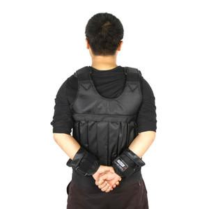 10kg 50kg Loading Weighted Vest For Boxing Training Equipment Adjustable Exercise Black Jacket Swat Sanda Sparring Protect