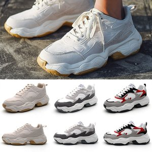 Wholesale Cool Black white brown red Low cut Brown Men Casual shoes comfortable old dad shoes women men shoe sports sneakers EUR