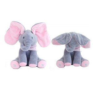 Wholesale Electric Singing Elephant Animals Plush Stuffed Music Doll shake shaking ears Teddy Bear Rabbit Interactive Toy For Pink Children Baby kids