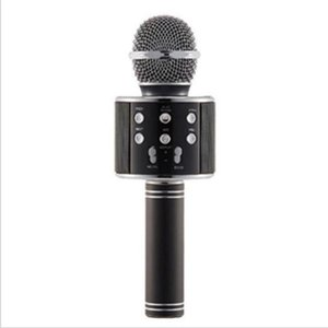 Wholesale mic stands for sale - Group buy WS858 wireless USB microphones professionals condensers karaokes mic bluetooth stand radio mikrofon studio recording studio WS858