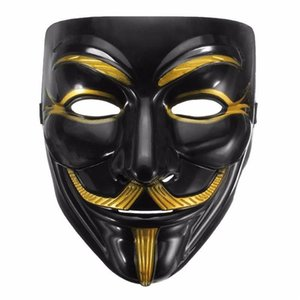 Wholesale High Quality V for Vendetta Mask Anonymous Movie Guy Fawkes Halloween Masquerade Party Cosplay Mask Drop Shipping