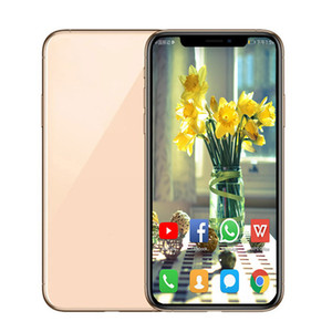 Goophone XS X 5.8inch Face ID And Support Wireless Charger Smartphones 1G 8G Show Fake 4G LTE Unlocked Smart Phone