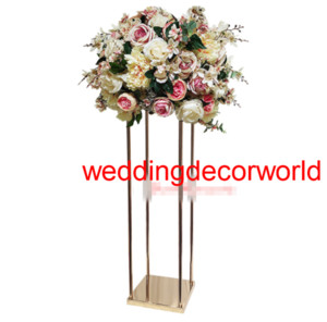 Wholesale wedding tables decor resale online - The new wedding flower road height window display rack European metal flower wearing wedding main table decoration furnishing articles decor
