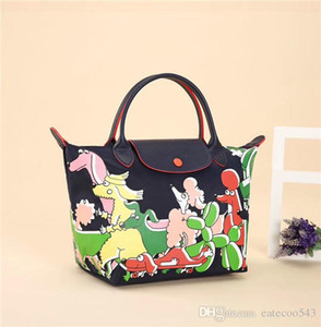 TOP Quality Joint Illustrations Cloe Floirat Designer Handbag Brands Women Minibags Cowhide Nylon Womens Lady Oversizebags Shop Bags Tote on Sale