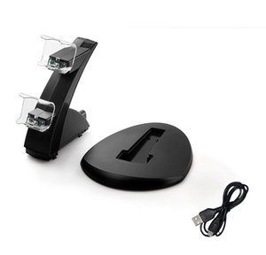 New PS4 Game Controller Charger Dual Charging Port LED Indicator Charging Station Dock Stand for PS4 PS4 Slim PS4 Pro Gamepad