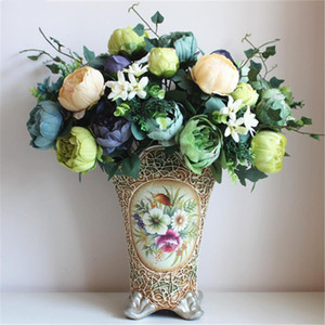 Wholesale tree flowers for sale - Group buy 12 Flower Heads Artificial Peony Bouquet Tree Paeonia Suffruticosa Artificial Silk Flower Wedding Bouquet Home Decoration