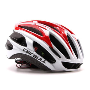 Wholesale cycling helmet red white blue resale online - Professional Cycling Riding Helmet Protective Gear Print All Seasons Outdoor Sports Cap