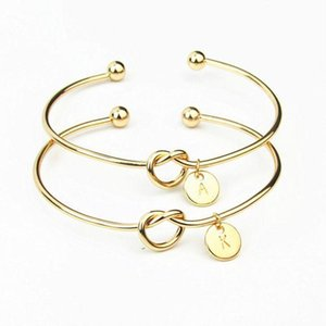 Wholesale 1 Kawaii Girlfriend Initial Gold Letter Bracelet Valentines Day Presents Bridesmaid Gift Wedding Souvenir Party Favor Gift