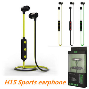 Wholesale skylette H15 Wireless Bluetooth Headphones Magnetic Running Sport Earphones Headset BT with Mic MP3 Earbud For iPhone LG Smartphones