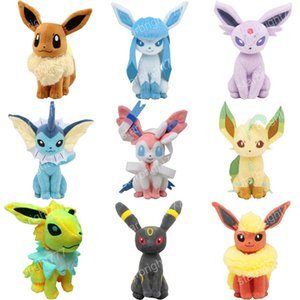 Wholesale 8 inch Pokemons Eevee family Plush toys Soft stuffed cute Grab machine Doll For Children birthday best gift lol high quality