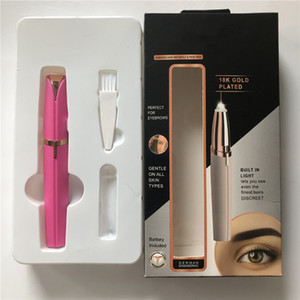 Multifunction Lipstick Eyebrow Trimmer Face Brows Hair Remover Epilator Pen Mini Electric Shaver Painless Eye Brow Epilator on Sale