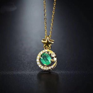 Wholesale Vintage emerald jewelry Princess Cut natural emerald ring earrings necklace pendant solid silver