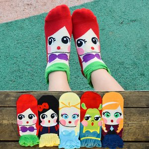Wholesale Three dimensional Mermaid Princess Korean Version Of Socks Women s Cartoon Boat Socks Cute And Comfortable Breathable Boat Socks