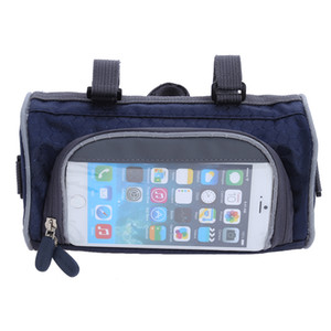 Wholesale Mountain Bike Bicycle Bags Panniers Touch Screen Cycling Phone Bag cases Case Road Bike Front Tube Handlebar Cylinder Bag for Samsung
