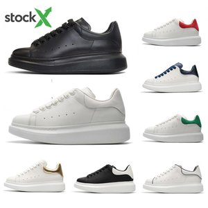 Wholesale Stock X Cheap Black white red Luxury Fashion Designer Women Casual Shoe Gold Low Cut Leather Brand Flat designers men womens sports sneakers