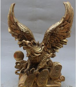 Wholesale NEW Chinese Fengshui Bronze Fengshui Hawk Eagle king Of SCYd Class Animal Statue
