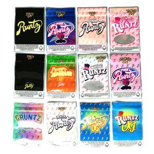 Joke's UP! Runtz Package Ziplock Jokes Up Runts Mylar Bags Only Packaging Zipper Runty Pouch Pack 12 Types DHL Free