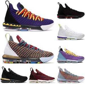 Wholesale 2019 lebron james lbj s Basketball Shoes Men Thru Court Purple Martin Oreo bred mens designer trainers sneakers sports