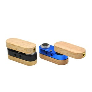 Wholesale folding smoking pipes resale online - Folding Wooden Pipe Hand Portable Foldable Smoking Pipes Double layer multicolor Pipe Outdoor small Smoking Accessories LXL783