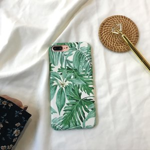 Wholesale Simple and Fresh Art Leaves Suitable for Apple X Max XR Mobile Phone Shell IPhone plus s Grinding Case