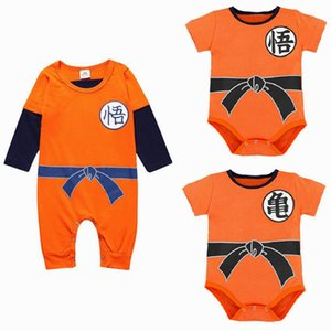Wholesale Newest Dragon Ball Baby Rompers Spring Summer Son Goku Baby Boy Clothes Newborn Girls Jumpsuit Infant Toddler Clothing Body Suit J190523
