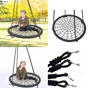 Wholesale outdoors kids games resale online - Children bird s nest swing indoor hanging chair net rope weaving seat toy children s swing kids outdoor game toys sea shipping FFA