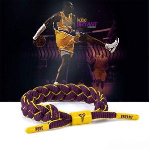 Wholesale Hottest Basketball star Team Adjustable Rope bracelet Braided bracelet bangle Colorful Lace Sports Wristband for Fans