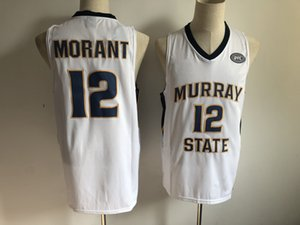Wholesale NCAA Murray State Racers Ja Morant Jersey Temetrius Jamel College Basketball Wears University Shirt Yellow Blue White OVC Ohio Valley