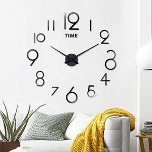 Wholesale roman accessories for sale - Group buy Large Digital Display D DIY Roman Numbers Acrylic Mirror Wall Sticker Clock Home Decor Mural Decals DIY Accessories Watch