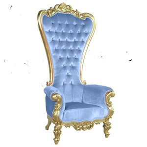 Wholesale European style gold high back king throne wedding chairs