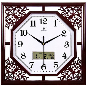 Wholesale chinese calendars resale online - Vintage New Wall Clock Chinese Creative Modern Unique Wall Clocks Living Room Calendar Quartz Wand Klok Home Decoration XX60WC