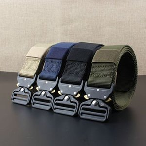Wholesale Outdoor CM Quick Release Buckle Belt Quick Dry Safety Belt Training Pure Nylon Tactical Belt Alloy Buckle Waistband ZZA700