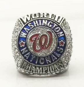 Washington 2019 Nationals World Series Champions Baseball Team Championship ring With Wooden Box souvenir Fan Men Gift Wholesale 2020