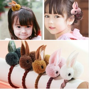 Wholesale New Cute Animals Rabbit Style Hair Bands Felt Three-Dimensional Plush Rabbit Ears Headband For Children Girls Hair Accessories