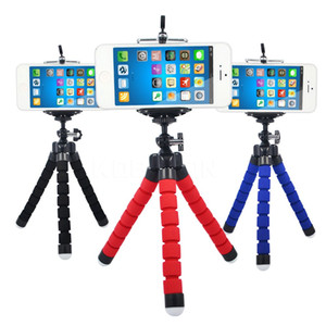 Tripods Flexible Sponge Octopus Mini Tripod For iPhone mini Camera Tripod Phone Holder clip stand for Smart Phone Cellphone