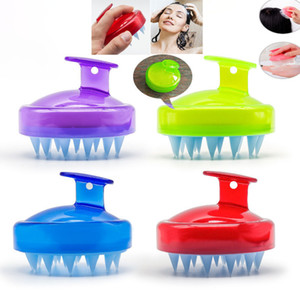Wholesale Silicone Brush For Hair Shampoo Massage Washing Comb Body Bath Spa Slimming Massage Brushes Personel Health HH9