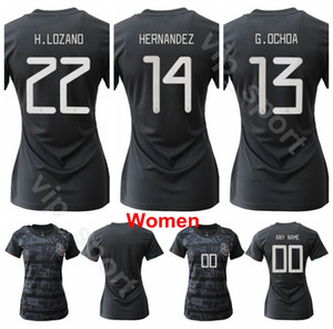 Wholesale Mexico Women Soccer National Team Home Black Jersey Palacios Garza Ovalle Romero Robles Espinosa Nieto Football Shirt Kits Uniform Lady