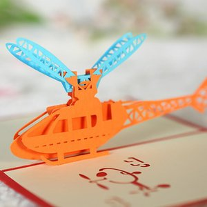 Wholesale fathers day card resale online - 3D UP Cards Happy Birthday Graduations Card Fathers Day Gift Card Souvenir Airplane Model Gifts For Boy Dad Kids Father