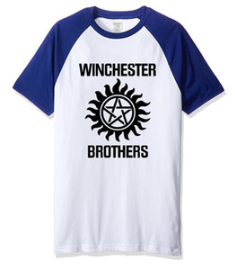 Wholesale Winchester Brothers Funny t shirts hot sale cotton men s t shirt print casual streetwear hip hop raglan t shirt men tops
