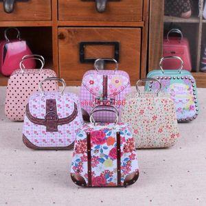 100pcs Mini Handbag Tin Box Home Cable Organizer Storage Box Zakka Wedding Gift Candy Jewelry Container Tea Boxs S