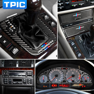Wholesale gears bmw for sale - Group buy Carbon Fiber Interior Car Stickers Central Control CD Panel Gear Cover Trim Lamp Eyebrows Decals For BMW E46 series