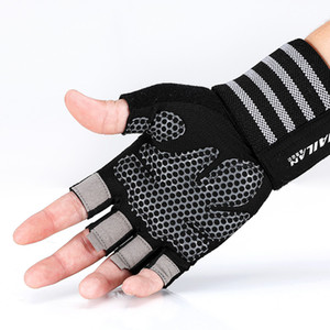 Wholesale Fitness Gloves Sport Wrist Guard Anti skid Training Instruments Dumbbell Single Rod Iron Lead Upward Breathable Wear resistant