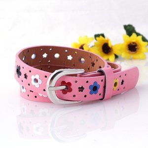 Wholesale Mix colors kids belts Korean flower butterfly hollow Cross border belt new fashion children s belt boys girls casual pin buckle belts