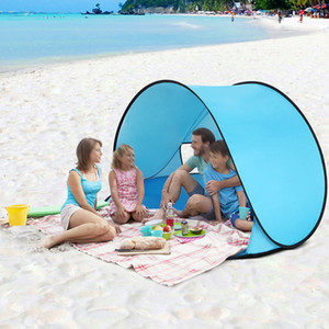 Wholesale Outdoor Camping Tents Instant Pop Up Tent Baby Beach Tent Cabana Portable Anti UV Sun Shelter for Camping Fishing Hiking