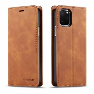 Wholesale Original FORWENW Magnetic Leather Wallet Case Leather Bumper With Card Slot Flip Magnet Cover For iPhone Xs max samsung S10 HUAWEI p20 p30