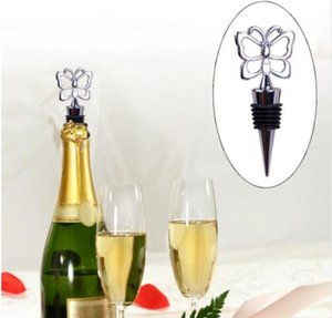 Wholesale 100 Butterfly Theme Wine Bottle Stopper wedding favors and gifts DHL Fedex
