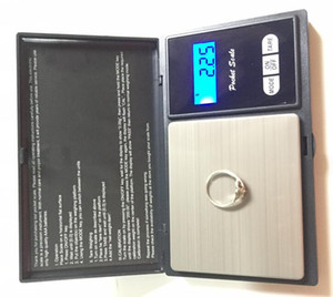 Electronic Black Digital Pocket Weight Scale 100g 200g 0.01g 500g 0.1g Jewelry Diamond Scale Balance Scales LCD Display with Retail Package
