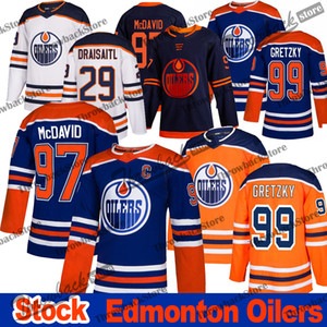 Wholesale Edmonton Oilers Jersey 97 Connor McDavid 29 Leon Draisaitl 99 Wayne Gretzky 93 Ryan Nugent Hopkins 2019-2020 Third Hockey Jerseys