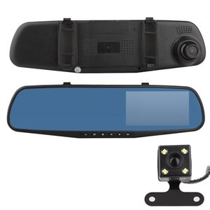 Wholesale New P Full HD LCD Dual Lens Vehicle Dashboard Camera Car DVR Video Recorder Car Rear View Mirror Camera